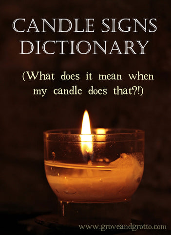 The candle signs dictionary (What does it mean when my