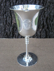 Silver plated Wiccan chalice