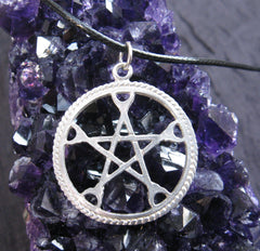 Aluminum pentacle necklace