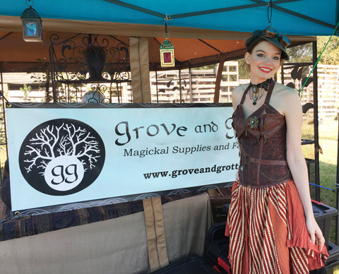 Michelle at Grove and Grotto's booth