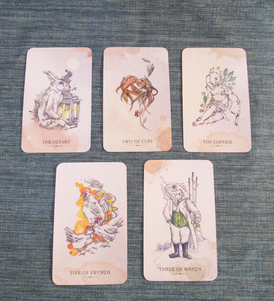 Otherkin Tarot sample cards