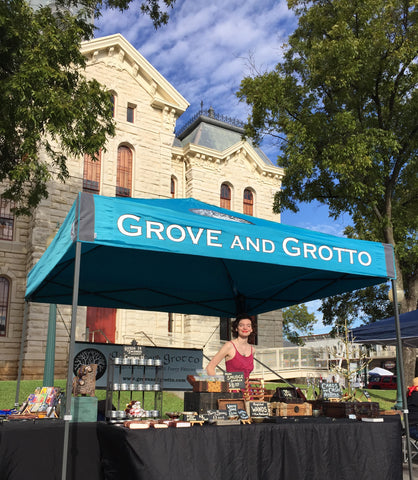 Grove and Grotto booth at Granbury Paranormal Expo