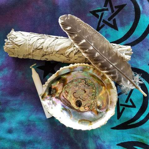 Smudging herbs and tools