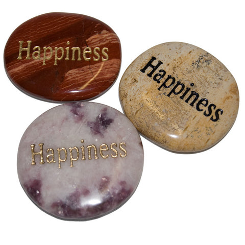 Happiness worry stone