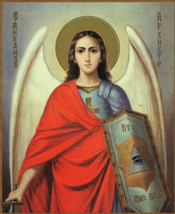 Archangel Michael with shield