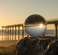 A crystal ball at sunrise