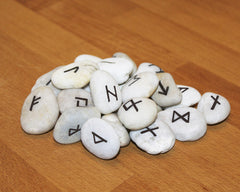 A set of handmade rune stones