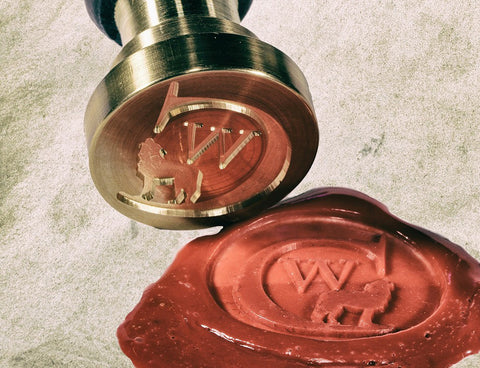 Stamped red sealing wax