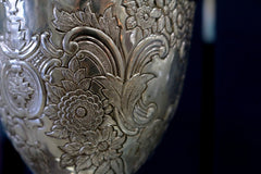 Old silver chalice with decoration