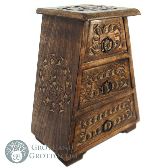 Three-Drawer Altar Chest - Grove and Grotto