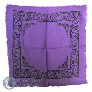 "Purple Altar Cloth with Celtic Border 18"" - Grove and Grotto"