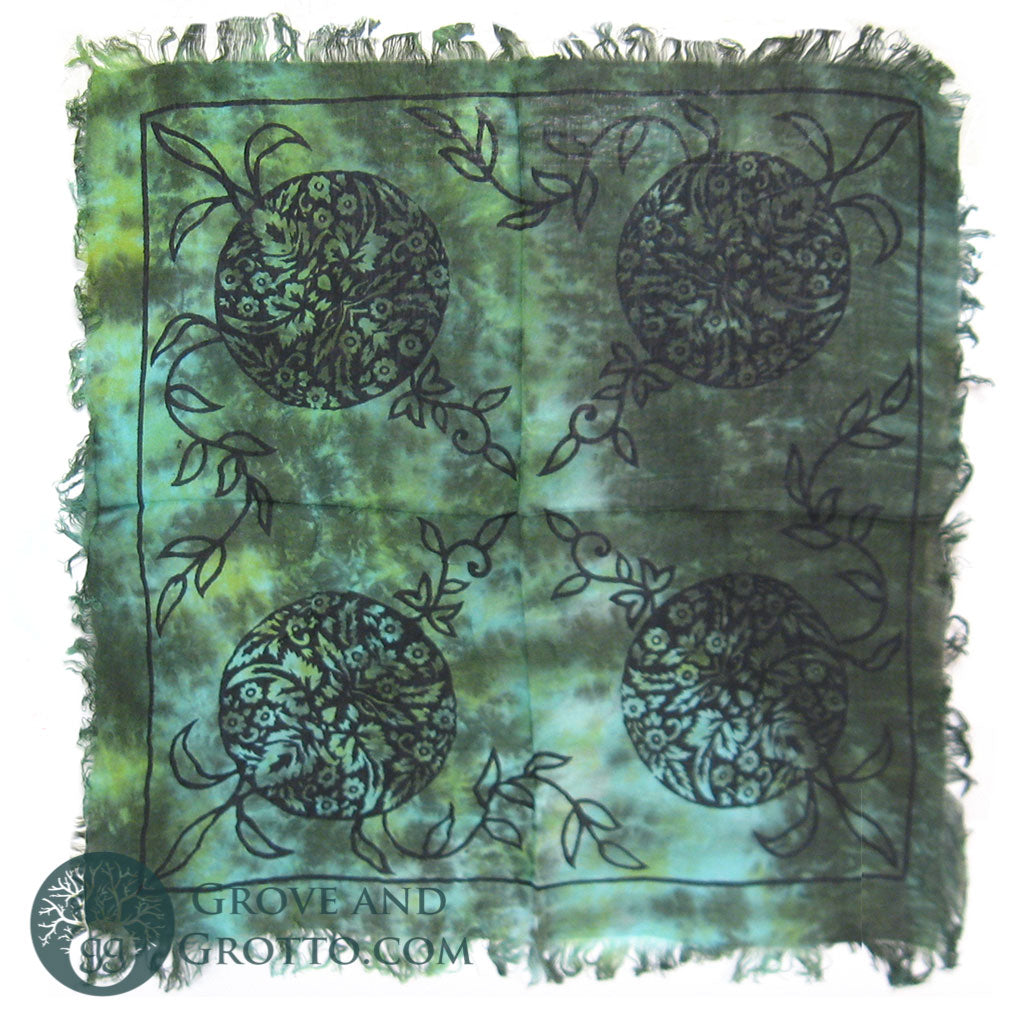 "Green Man Altar Cloth 18"" - Grove and Grotto"