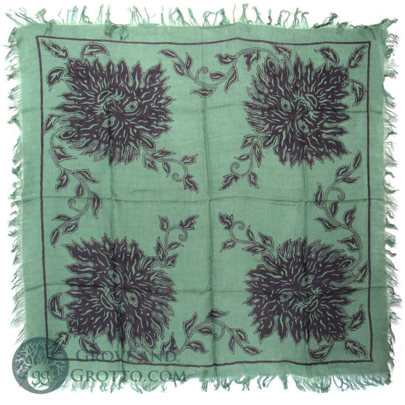 Four Quarters Green Man Altar Cloth 36