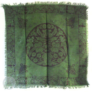 "Oak Leaf Green Man Altar Cloth 36"" - Grove and Grotto"