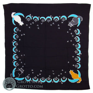 Moon Cat Altar Cloth - Grove and Grotto