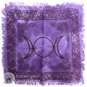 Purple Triple Moon Altar Cloth 18""