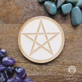 Pentagram Engraved Altar Tile 4""