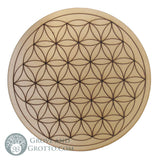 "Flower of Life Altar Tile on Birch Wood 10"" - Grove and Grotto"