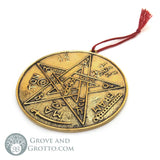 "Levi's Pentagram Brass Tile 3.5"" - Grove and Grotto"