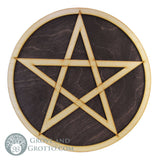 "Pentacle Altar Tile on Birch Wood 10"" - Grove and Grotto"