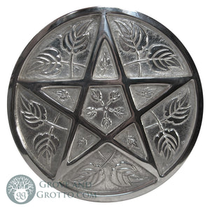Large Silver-Plated Pentacle 9""