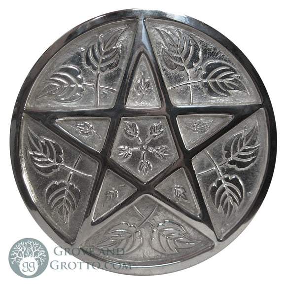 Large Silver-Plated Pentacle 9