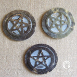 "Soapstone Pentagram Altar Tile 3"" - Grove and Grotto"