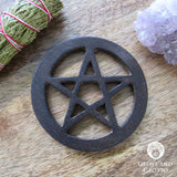 Wooden Pentagram Altar Tile 4""
