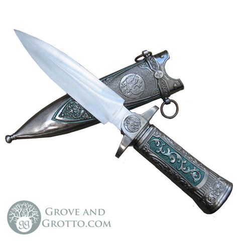 "Verdigris Athame 11"" - Grove and Grotto"