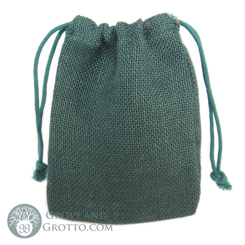 "Natural Burlap Bag 5x7"" (Green)"