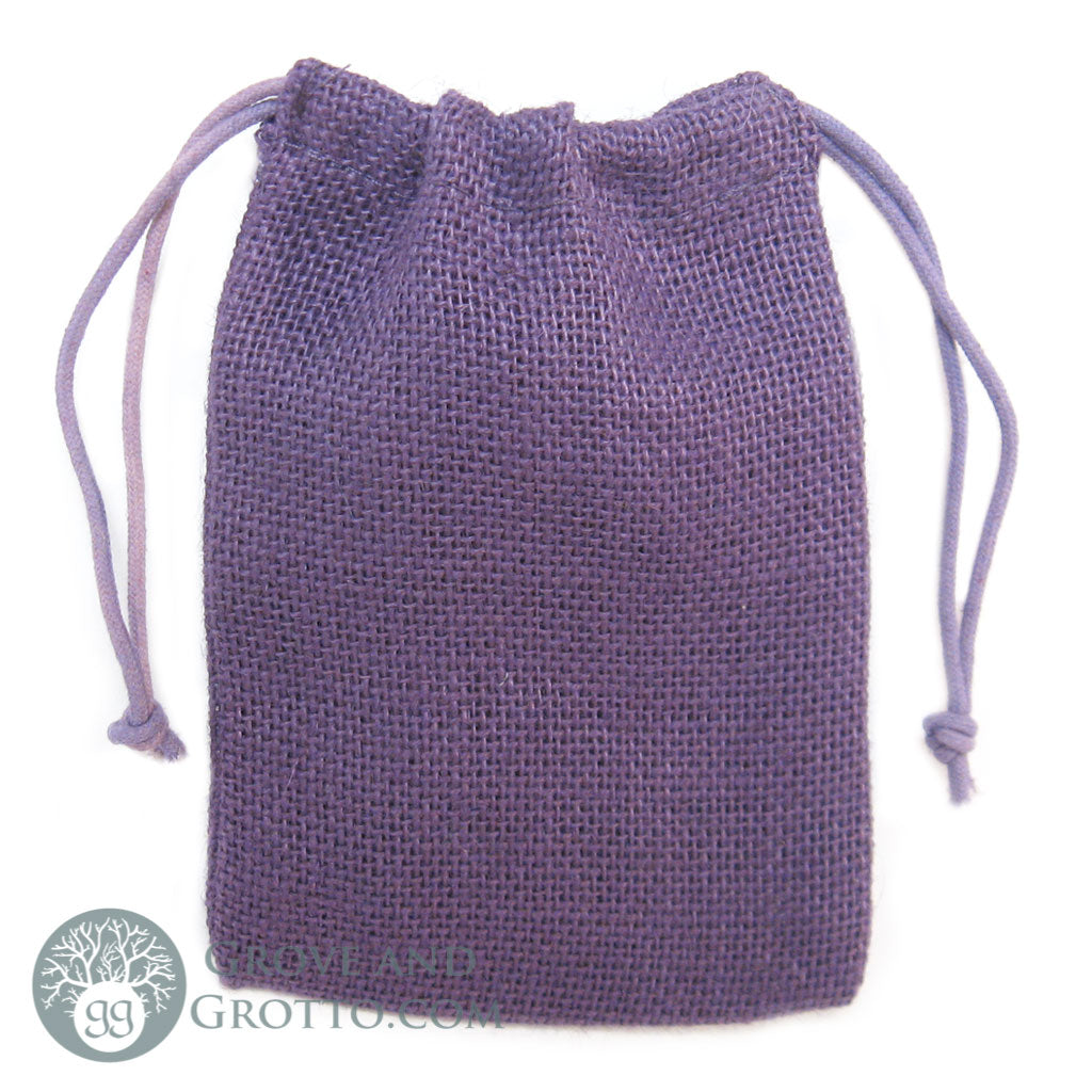 "Natural Burlap Bag 5x7"" (Purple)"