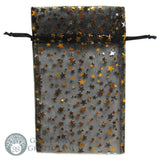 "Black Organza Pouch with Gold Stars 4x5"" - Grove and Grotto"