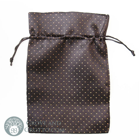 "Black Satin Bag 6x9"" - Grove and Grotto"