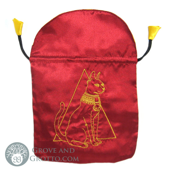 Egyptian Cat Satin Tarot Bag