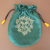 Green Man Embroidered Bag - Grove and Grotto