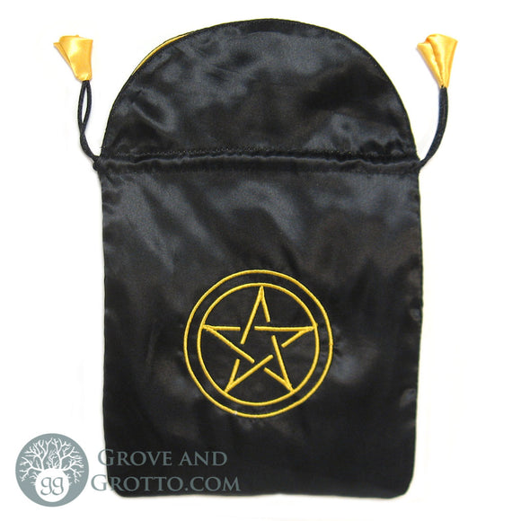 Pentacle Satin Tarot Bag