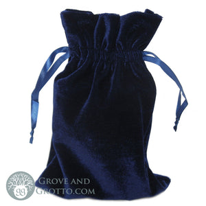 "Velvet Bag 6x9"" (Navy Blue) - Grove and Grotto"