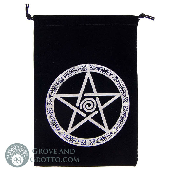 Pentacle Embroidered Tarot Bag