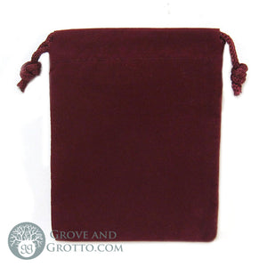 "Velveteen Bag 3x4"" (Burgundy) - Grove and Grotto"