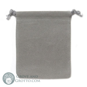 "Velveteen Bag 3x4"" (Grey) - Grove and Grotto"