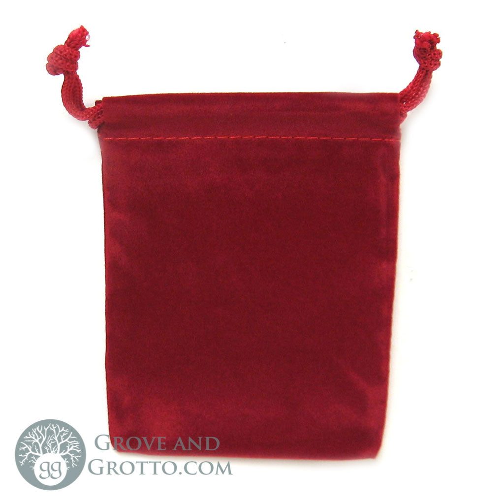 "Velveteen Bag 3x4"" (Red) - Grove and Grotto"
