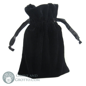 "Small Velvet Bag 4x6"" (Black) - Grove and Grotto"