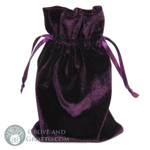 "Velvet Bag 6x9"" (Purple) - Grove and Grotto"