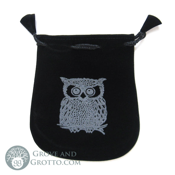 Owl Velveteen Bag - Grove and Grotto