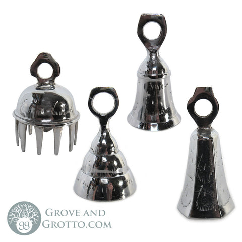 "3"" Silver Bells (Set of 4) - Grove and Grotto"