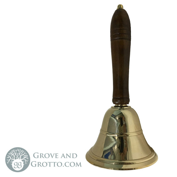 Wood Handle Brass Bell 8