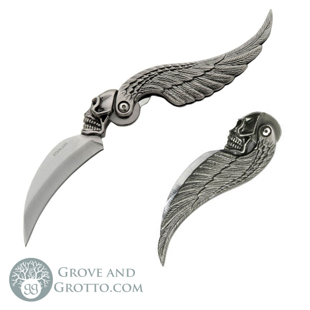 Skull Wing Folding Knife