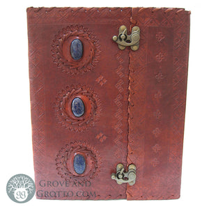 Giant Three-Stone Leather Journal - Grove and Grotto