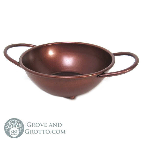 Antiqued Ritual Bowl with Handles 5