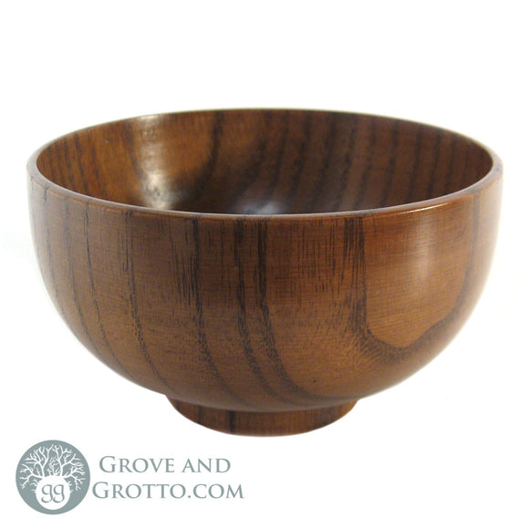 Natural Finish Wood Bowl 4.5